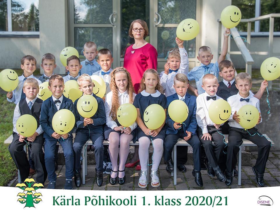 1. klass 2020-21 õppeaastal. Klassijuhataja Riina Eller