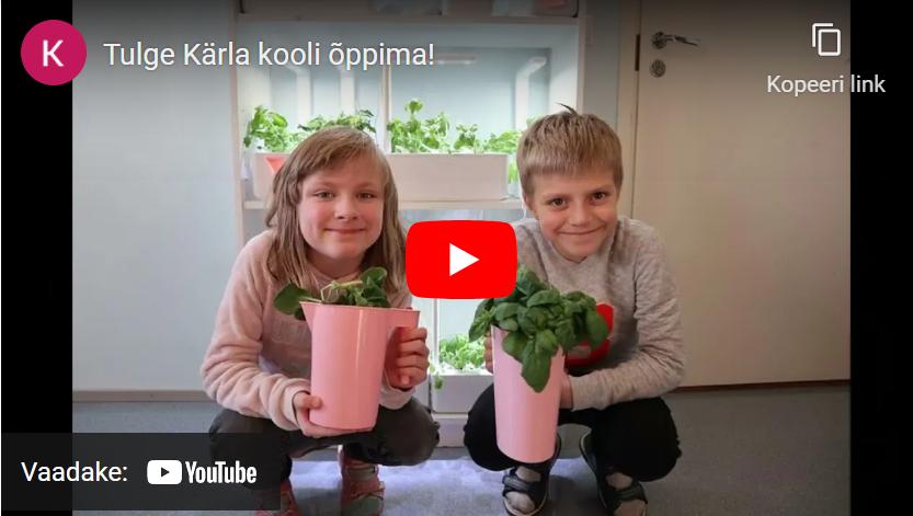 Tulge Kärla kooli õppima - kooli tutvustav video